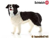 Schleich BOARDER COLLIE solid plastic toy farm pet animal SHEEP DOG * NEW *💥