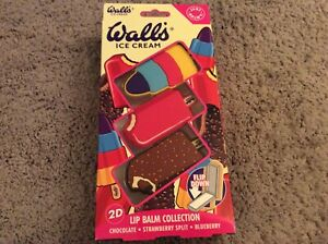New Sealed Walls Ice Cream Lip Balm Collection 2g - Feast Strawberry Split Zoom