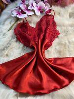 Andra red Camisole Top sleepwear nightwear size us34 eu75 it3
