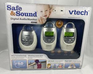 VTech DM221-2 Safe&Sound Digital Audio Baby Monitor with 2 Parent Units Read Des