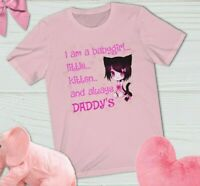 BDSM Sex Themed Submissive gift Crop Top Daddy's baby Little Girl DDLG Shirt