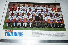 CLIPPING POSTER FOOTBALL 1988-1989 TOULOUSE FC Téfécé TFC STADIUM