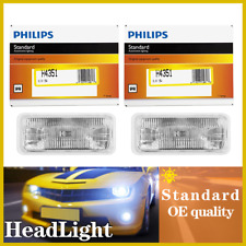 H4351C1 Philips 2PCS Headlight Light Bulbs Low Beam For 1993-97 Chevrolet Camaro