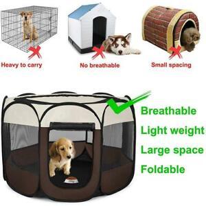 Portable Pet Playpen Puppy Dog Cat Play Pen Soft Crate Cage Enclosure Tent