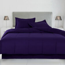 Solid Purple Down Alternative Comforter 200 GSM All Seasons Cal King Size