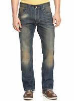 $98 REQUEST PREMIUM Sherman Slim Straight Leg Jeans 38 x 32 Blue Stonewashed