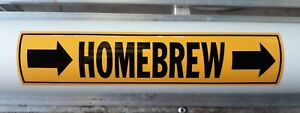 HOMEBREW Pipe marker vinyl beer sticker