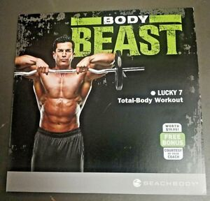 Body Beast Lucky 7 Total Body Workout Cardio & Strength Focused Fitness DVD NIP