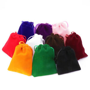 100pcs Velvet Jewellery Gift Bags Drawstring Pouches Soft High Quality Candy Bag