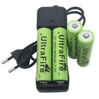 4pcs 18650 8800mAh Battery 3.7V Li-ion Rechargeable Batteries & Fast EU Charger