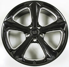 US MAGS MILNER 20 x 9.0 BLACK RIMS WHEELS DODGE CHARGER AWD 5x115 +35
