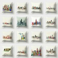 Case Home Decor Polyester Pillow Waist 18'' Cushion Throw Sofa Cover