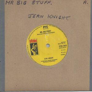 """Jean Knight Mr Big Stuff 7"""" Vinyl Record - STAX Soul"""