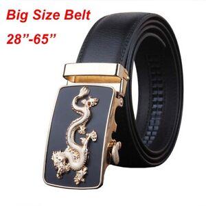 """Fashion Beautiful Chinese Dragon Pattern Mens Belts Cowhide Belt Size 30-63"""""""