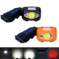 300LM COB+ 2 RED LED 3x AAA Headlamp Headlight Head Light Lamp Torch Flashlight
