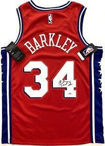 CHARLES BARKLEY #34 SIGNED PHILADELPHIA 76ERS SWINGMAN BASKETBALL JERSEY PSA/DNA