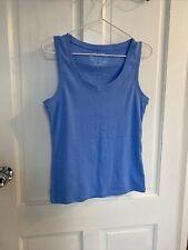 F&F Clothing Womens Light Blue Vest Top Size 16 100% Cotton