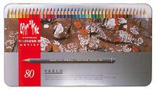 Caran d'Ache PABLO Farbstifte, 80-er Metalletui, 0666.380, NEU&OVP