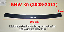 Rear Bumper Protector Stainless Steel & Carbon Film fit BMW X6 E71 2008-2013