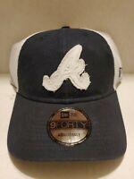 "New Era 9Forty ""The League"" Atlanta Braves Road Hat navy blue/white MLB Adj Cap"