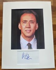 NICOLAS CAGE -A Superb Hand Signed Autograph With Photo,Mounted To Frame COA