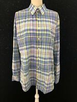 Vineyard Vines Slim Fit Whale Shirt Plaid Long Sleeve Button Shirt Mens Sz XL