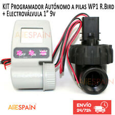 "Programador autonomo a pilas WP1 Rain Bird + Electrovalvula 1"" 9V JTV. WP riego"