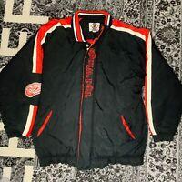 DETROIT RED WINGS Hockey STARTER Vintage NHL Sz XL Men's Puffer Jacket