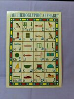 World Wonders In Pictures Egypt The Hieroglyphic Alphabet Unsent Post Card Color
