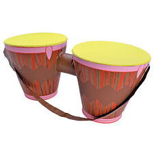 INFLATABLE BONGO #DRUMS ETHNIC MUSIC HAWAIIAN FANCY DRESS PARTY ACCESSORY