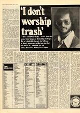 Rupert Holmes I Don't Worship Trash MM5 Interview 1975