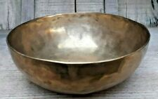 Vintage Brass Hand Carved Engraved beautiful singing bowl Great Sound Antique
