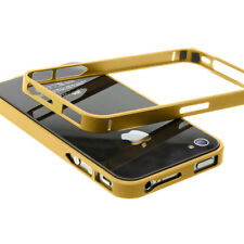 Apple IPHONE 4 4S Móvil Funda Protectora Carcasa Funda Aluminio - Oro
