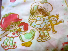 Vtg 80s STRAWBERRY SHORTCAKE American Greetings Twin Sz FITTED Sheet