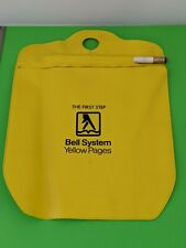Vintage Bell Systems Yellow Pages Advertising Automobile Car Litter Trash Bag