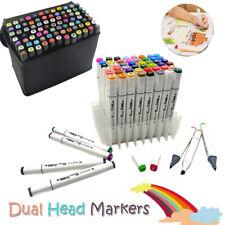 24-168 Color Set Marker Pen Alcohol Graphic Art Twin Tip Markers Permanent Paint