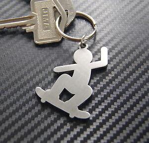 SKATEBOARDER Boarder Freestyle Tricks Park Ollie Kickflip Keyring Keychain Gift