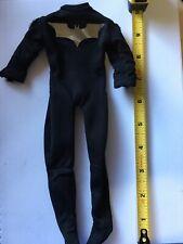 1/6 Custom Black Batman Body Tight Suit Chrome Bat Logo