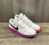 Nike Air Jordan 1 Low GS Sz 5Y Women Sz 6.5 Grade White Volt Crimson CV9548-100
