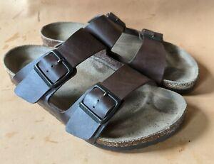 Birkenstock ARIZONA Birko-Flor Sandal Sz 39 Eur Brown