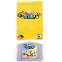 Cruis'n World (Nintendo 64, 1998) Authentic w/ Manual Tested & Works