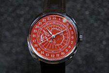 Mechanical watch RAKETA ANTARCTICA 24-HOUR. New. Red dial. 39mm case