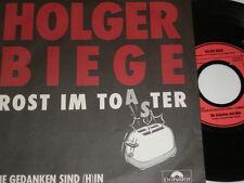 """7"""" - Holger Biege Rost im Toaster & Die Gedanken sind (h)in - 1985 # 3788"""