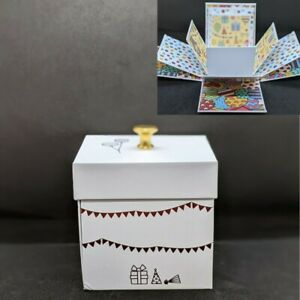 """SendaCake Surprise Explosion Happy Birthday Gift Box Pop Up Out 4"""" Present Wrap"""