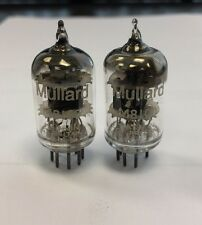 M8100 CV4010 5654 MULLARD VINTAGE MATCHED PAIR VALVE/TUBES - SQUARE GETTER