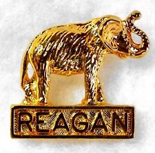 "Vin Reagan Campaign Tie Tack Pin Elephant 3/4 x 3/4"" Never Opened"