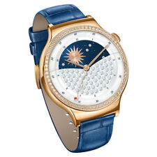 [Au Stock] - Huawei W1 Jewel Watch (Rose Gold Plated) - Blue Leather Strap