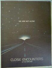 Original Vintage Close Encounters of the Third Kind Iron On Transfer Movie