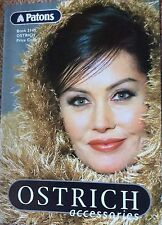 Vintage Patons Knitting  Book 2145 Ostrich Accessories- Shawl Scarf Wrap Etc