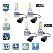 9005+9006 Combo CREE LED Headlight Kit High&Low Beam Light Bulbs 2 Pairs